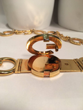 Gucci Vintage Gold GG Logo Chain Belt