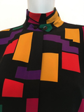 Pierre Cardin Vintage 1980's Abstract Print Blouse