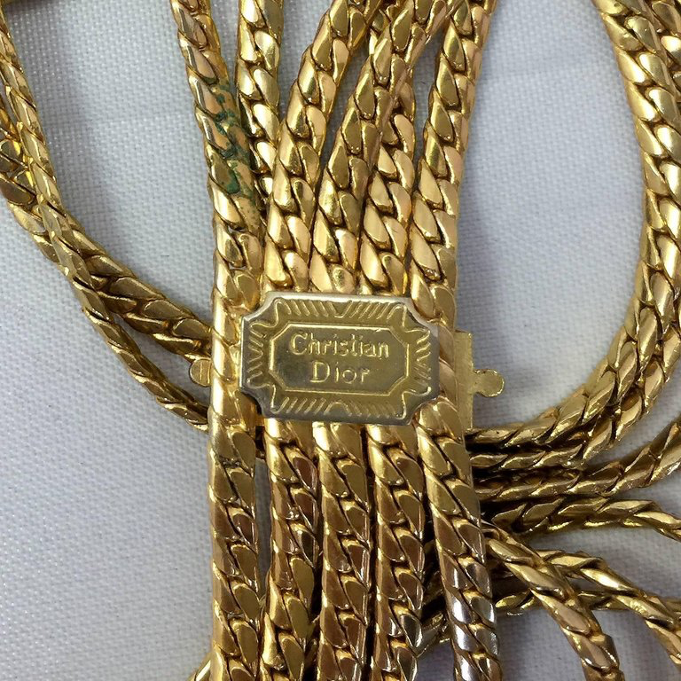 Christian Dior Multi-Strain Gold Tone Rope Chain belt