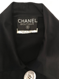 Chanel 1990's Black Satin Sheath Dress
