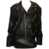 Montana Vintage 1980'S Black Leather Motorcycle Jacket