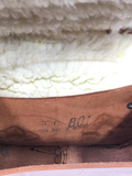 Handmade, Hand Tooled Mexican Leather and Sheepskin Saddle Shoulder Bag