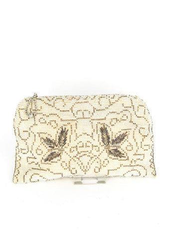 Zig Zag Beaded Clutch Czechoslovakian 30's