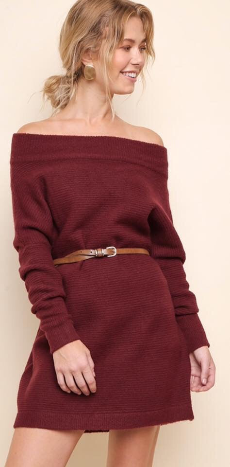 Knit Off Shoulder Dress