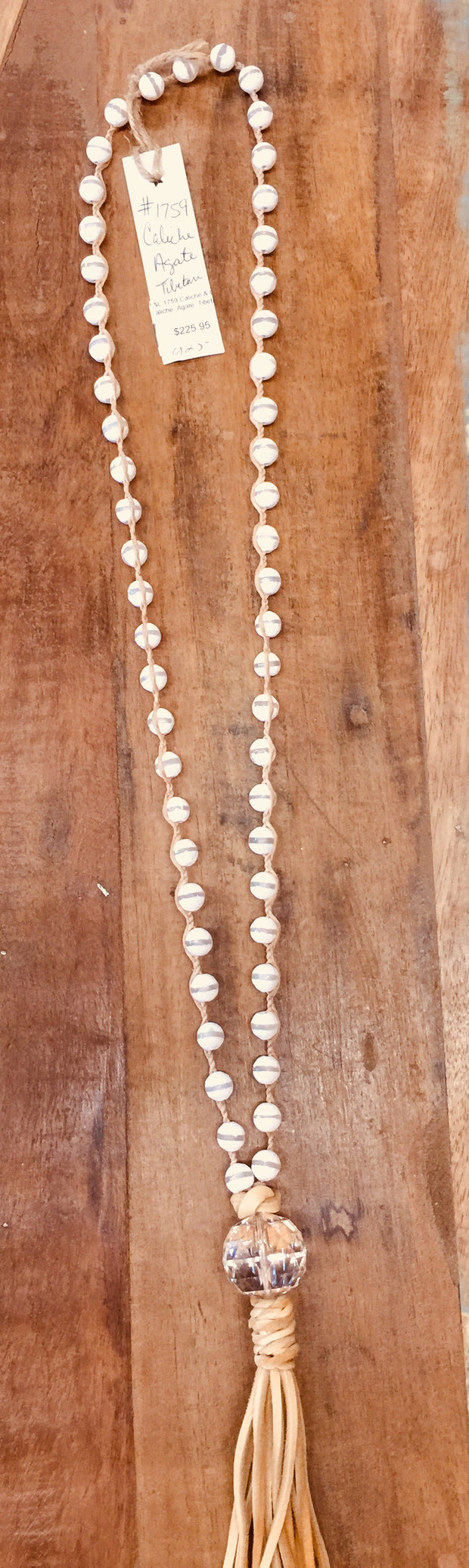 Caliche & Crystal Necklace