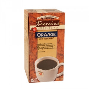 Teeccino Orange/Original 75% Organic Mediterranean Herbal Coffee, Tee Bags x 25