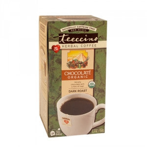 Teeccino Maya Chocolate Organic Herbal Coffee, Tee-bags x 25