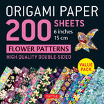 Origami Paper Packs-Flower Patterns (200)-9780804852715-HMWF Store