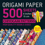 Origami Paper Packs-Chiyogami Patterns (500)-9780804849234-HMWF Store