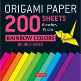 Origami Paper Packs-Rainbow Colors (200)-9780804847186-HMWF Store