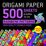 Origami Paper Packs-Rainbow Patterns (500)-9780804851459-HMWF Store