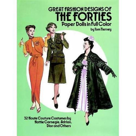 Paper Dolls-Great Fashion Designs of the Forties-9780486253862-HMWF Store
