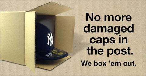 no more damaged caps in the post. we box em out and look after your headwear lidzcaps.com