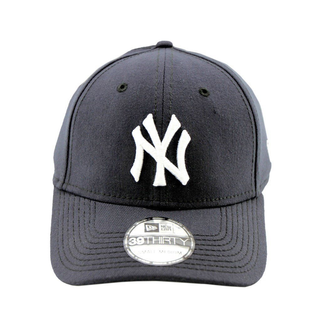 39Thirty Fitted Pre Curved Visor Cap - New York Yankees Navy Fashion 3930 Cap