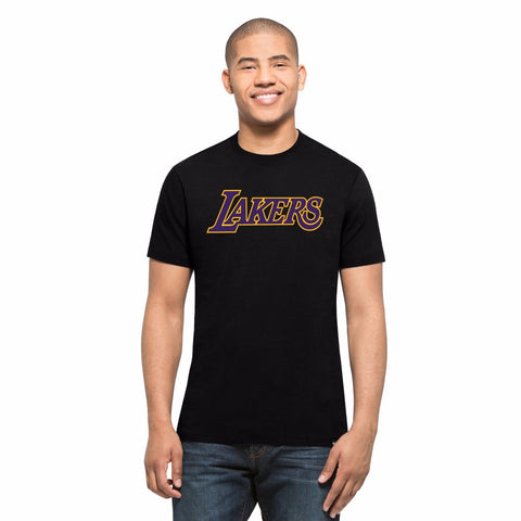 Los Angeles Lakers Quick Turn Splitter Tee Men's Black 47 Brand T-Shirt