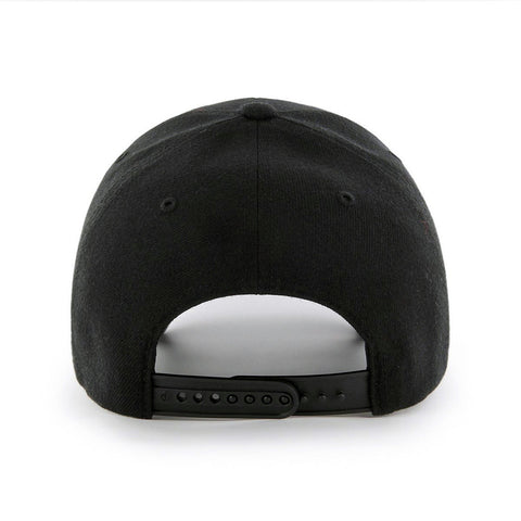 New York Yankees '47 Brand Black on Black MVP Snapback Cap