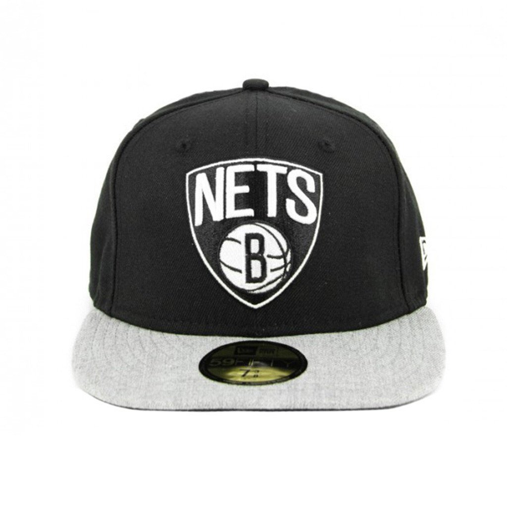 59Fifty Fitted Cap - Brooklyn Nets Black Grey Fashion Fitted Cap