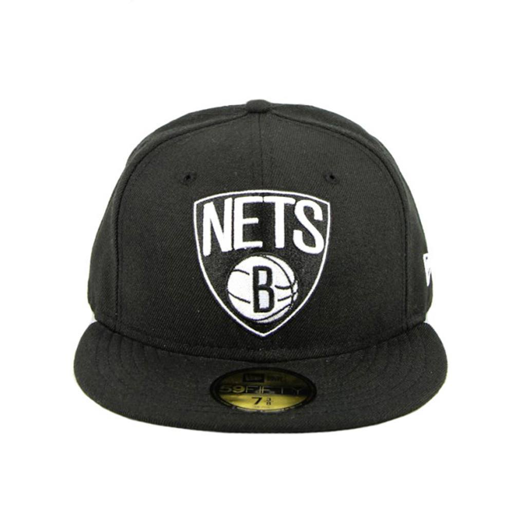 59Fifty Fitted Cap - Brooklyn Nets Black White Fashion Fitted Cap