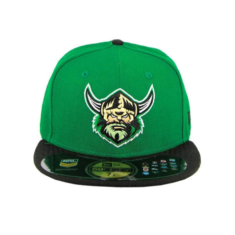 Canberra Raiders New Era Green Black Brim Fashion Fitted Cap