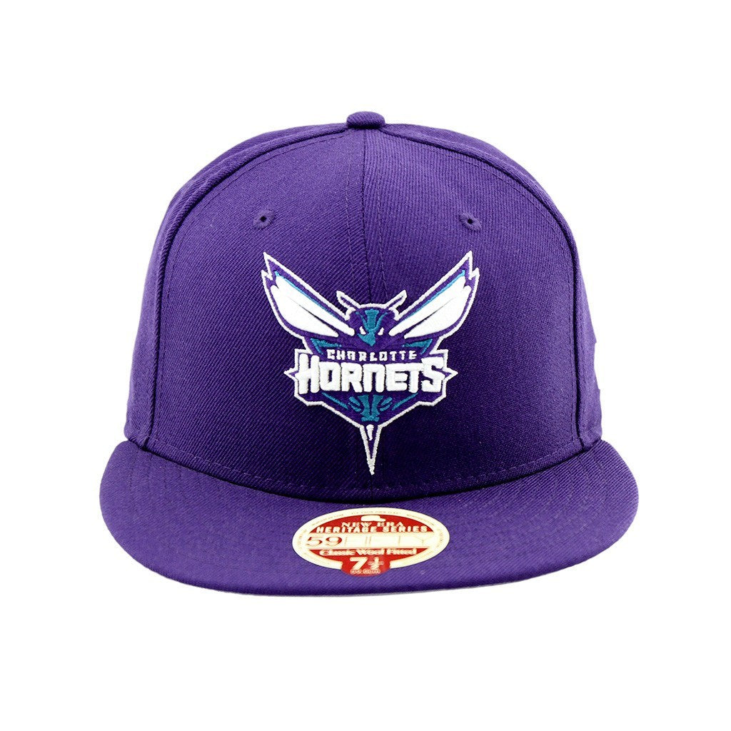 59Fifty Fitted Cap - Charlotte Hornets Heritage Series Fitted Cap Purple