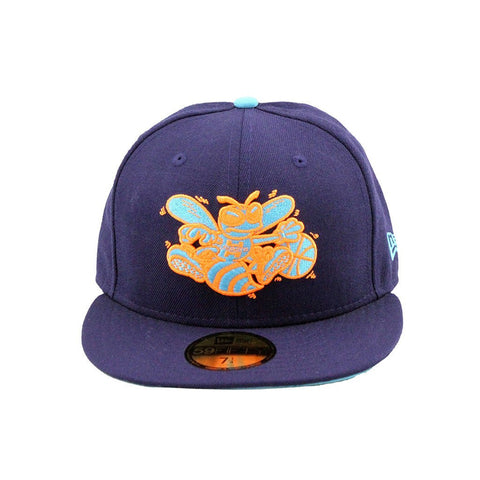 Charlotte Hornets New Era Neon Purple Teal Fashion Fitted Cap