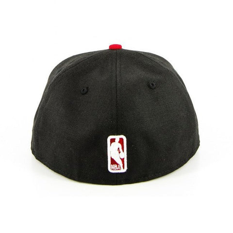 Chicago Bulls New Era Black Red Fashion Fitted Cap