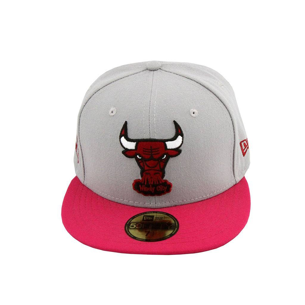 59Fifty Fitted Cap - Chicago Bulls Grey Pink Fashion Fitted Cap