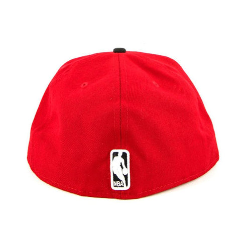 Chicago Bulls New Era Red Black Fashion Fitted Cap