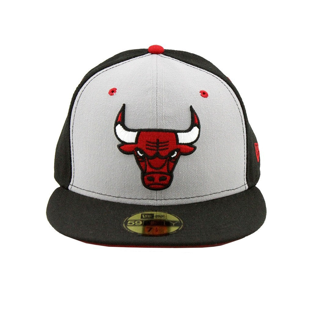 59Fifty Fitted Cap - Chicago Bulls Two Tone Grey Black Fashion Fitted Cap