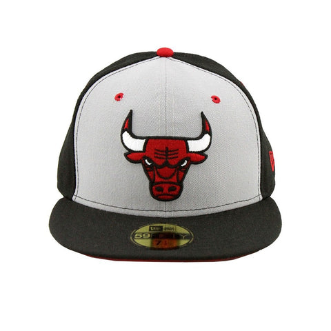 Chicago Bulls New Era Two Tone Grey Black Fashion Fitted Cap