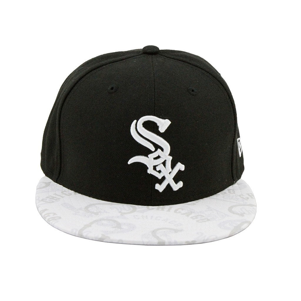 Chicago White Sox New Era Clear Vis Brim Black White Fashion Fitted ... 109c0374f0d