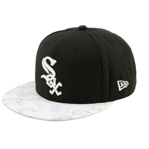Chicago White Sox New Era Clear Vis Brim Black White Fashion Fitted Cap