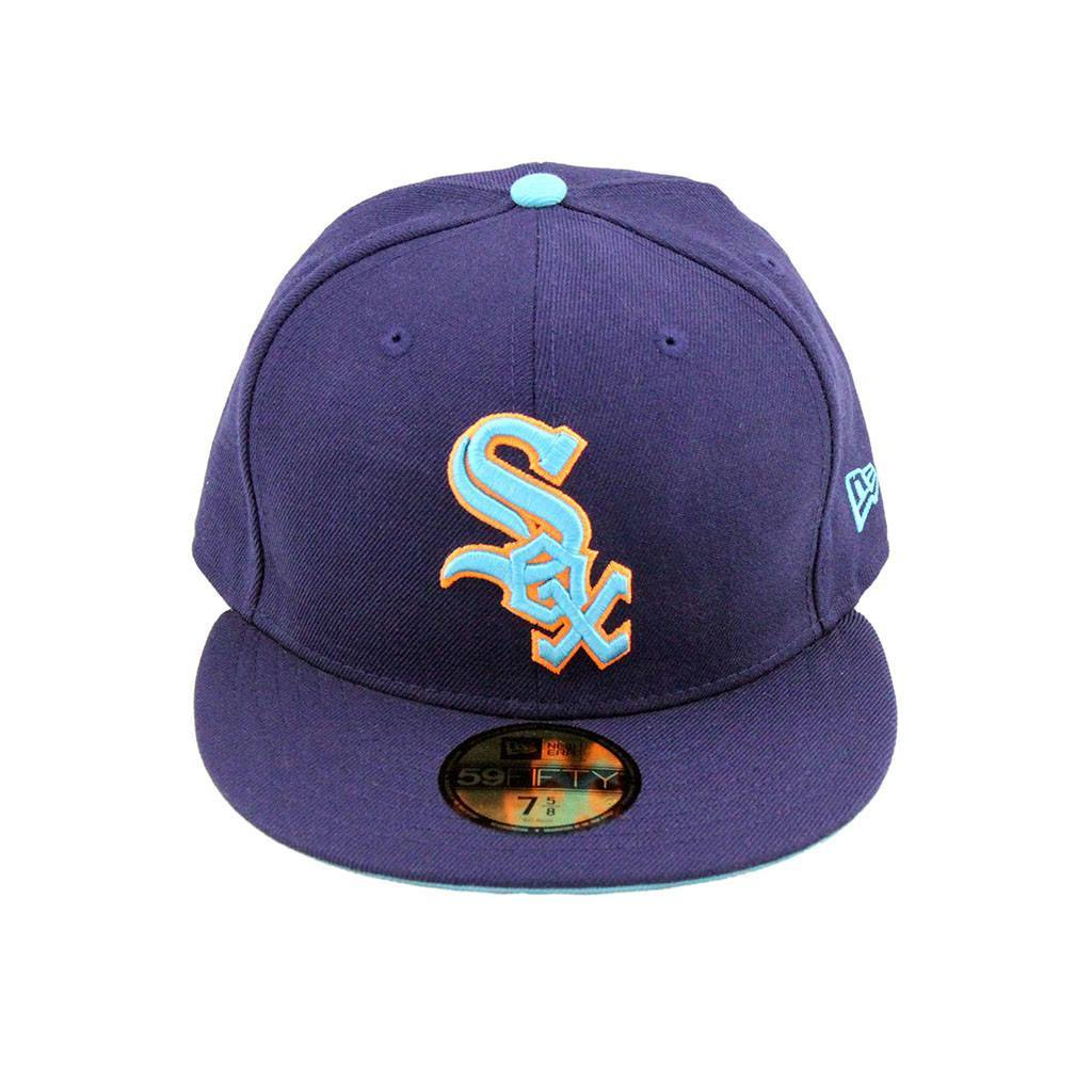 59Fifty Fitted Cap - Chicago White Sox Neon Purple Fashion Fitted Cap