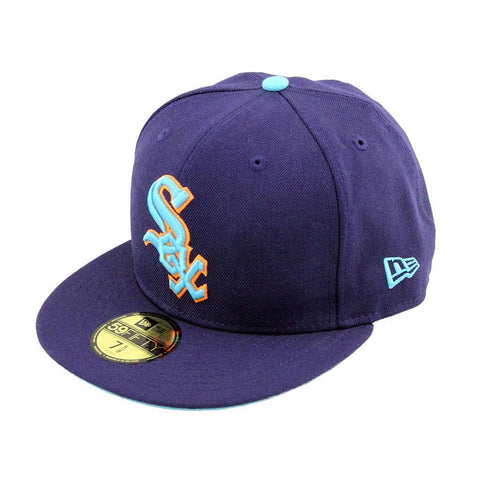 Chicago White Sox Neon Purple Fashion Fitted Cap