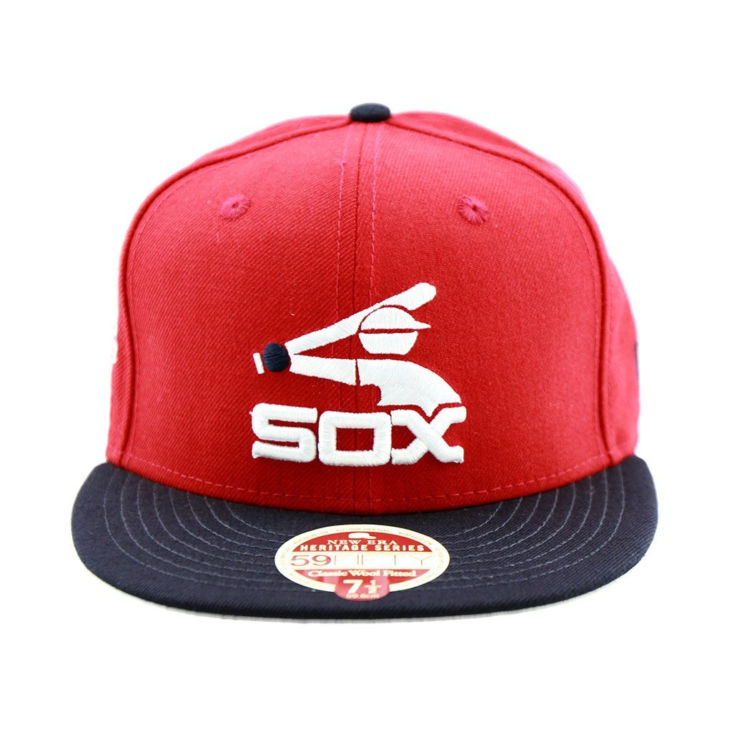 59Fifty Fitted Cap - Chicago Whitesox Baseball Heritage Series Two Tone Fitted Cap