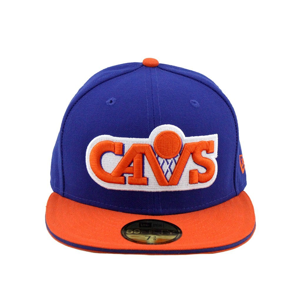 59Fifty Fitted Cap - Cleveland Cavaliers Blue Orange Fashion Fitted Cap