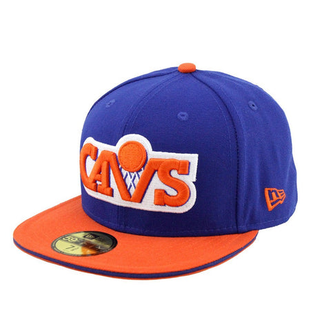 Cleveland Cavaliers Blue Orange Fashion Fitted Cap