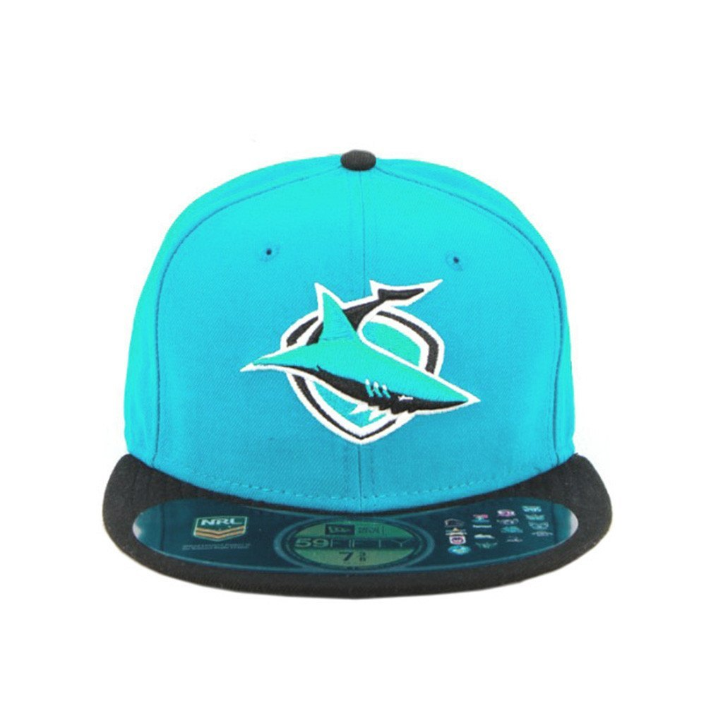 59Fifty Fitted Cap - Cronulla Sharks Aqua Black Brim Fashion Fitted Cap