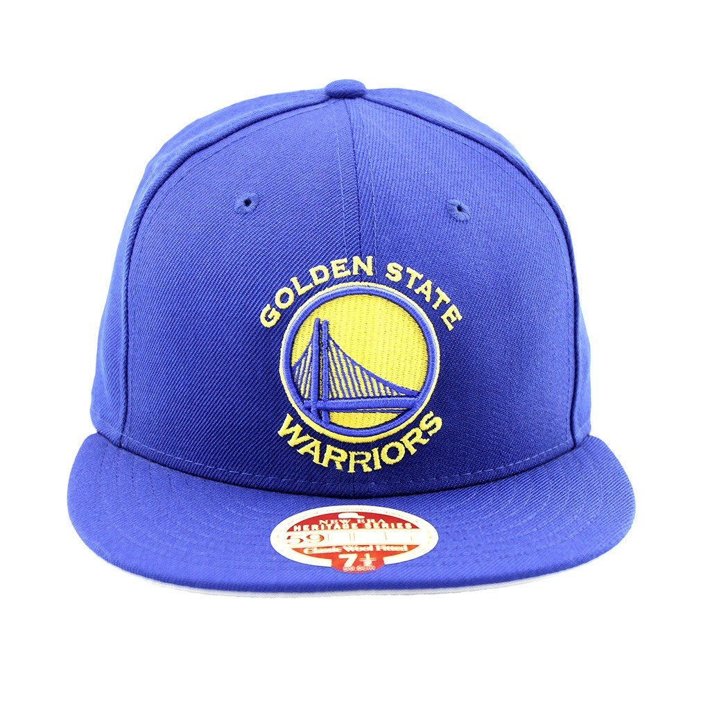 59Fifty Fitted Cap - Golden State Warriors Royal Blue Heritage Series Fitted Cap