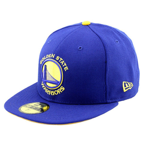 Golden State Warriors New Era Royal Blue Team Fitted Cap