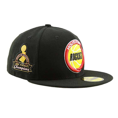 Houston Rockets NBA Finals Champions Side Patch Fitted Cap