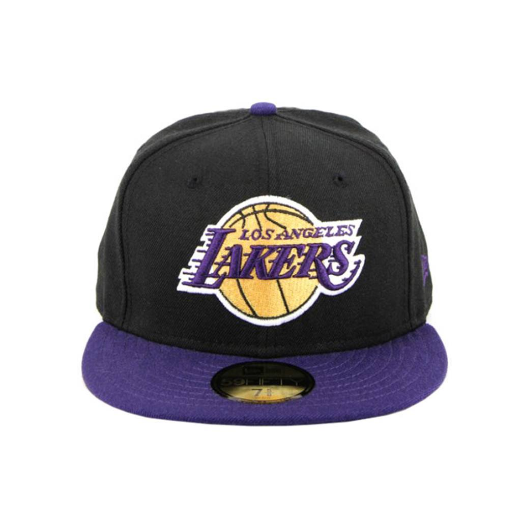 59Fifty Fitted Cap - Los Angeles Lakers Black Purple Fashion Fitted Cap
