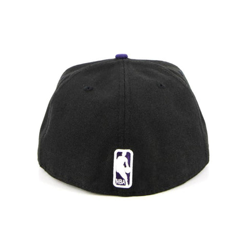 Los Angeles Lakers New Era Black Purple Fashion Fitted Cap