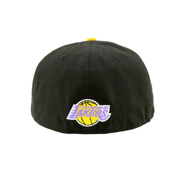 1e38896b56607 ... 59Fifty Fitted Cap - Los Angeles Lakers Custom Closer Fashion Fitted  Black Yellow Cap