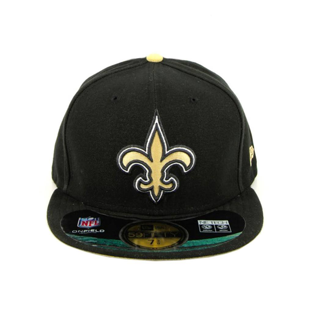 59Fifty Fitted Cap - New Orleans Saints Black Gold On-Field Fitted Cap