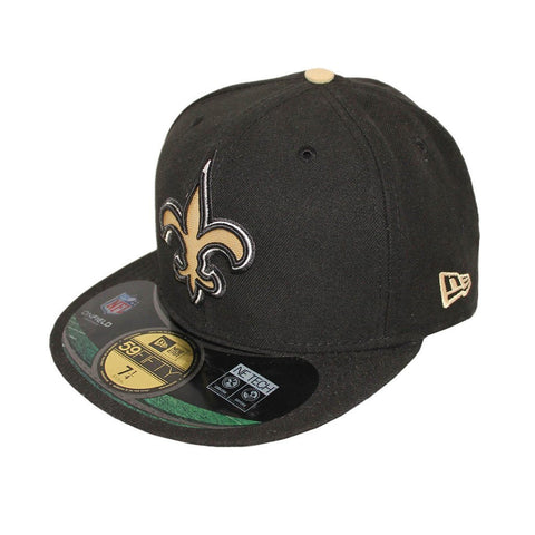 New Orleans Saints Black Gold On-Field Fitted Cap