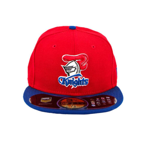 Newcastle Knights Red Blue Brim Fashion Fitted Cap