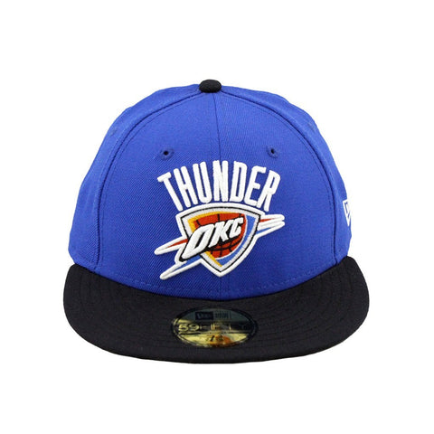 Oklahoma City Thunder Blue-Black Low Crown Fitted Cap