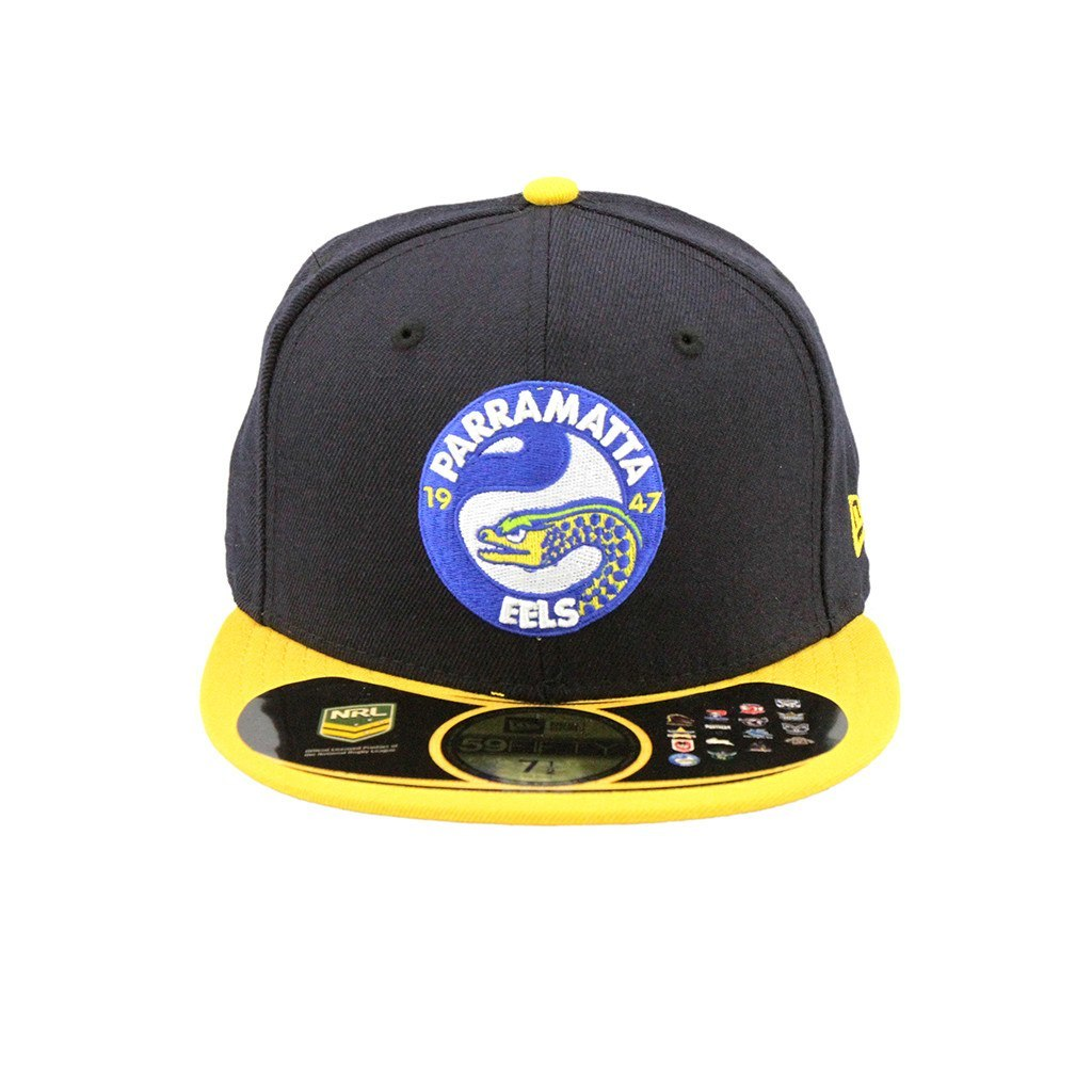 59Fifty Fitted Cap - Parramatta Eels Black Yellow Brim Fashion Fitted Cap