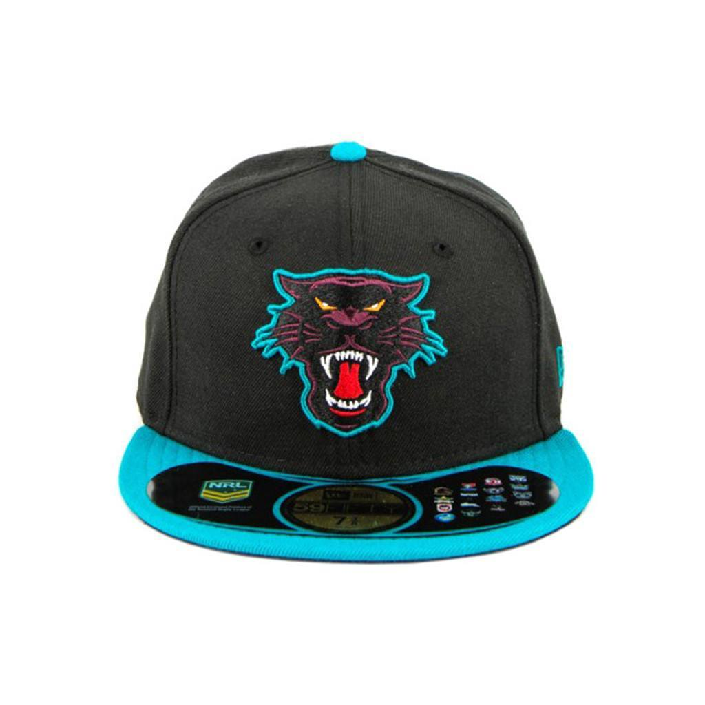 59Fifty Fitted Cap - Penrith Panthers Black Aqua Fashion Fitted Cap
